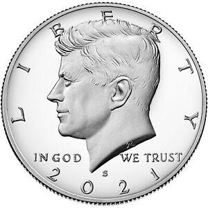 "2021 ""S"" Kennedy Clad Half Dollar, Perfect Gem Proof, Single Coin"