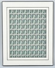 WW2 Framed Display Of 50 Unused Adolph Hitler Stamps Mint Condition Collectible