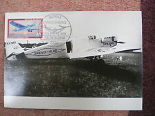 AVIATION 135 airplane 1979 Junkers W 33 private maxicard GERMANY MAXIMUM CARD