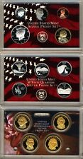 2007 US Mint Silver Proof Set With Presidential Dollars Gem Coins w/Box