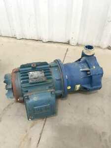 "Serfilco 51-1262-H-5 Chemical Pump 2 1/4"" Ports W/WEG W22 3PH 3HP Electric Motor"