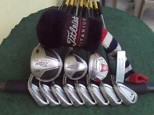 Titleist TaylorMade Hybrid Irons Driver Wood Complete Golf Club Set Mens RH Set
