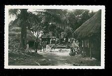 RPPC Natives in Village at Man Ivory Coast Real Photo Postcard B3343