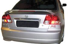 Factory Style 2-Post Mount Unpainted Rear Spoiler Fits 01-05 Honda Civic Sedan