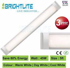LED BATTEN SLIMLINE TUBE LIGHT WALL AND CEILING MOUNT 5 ft 1500 mm 45 WATT 6000K