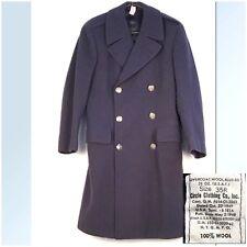 Vintage Usaf Post Wwii 1949 Us Air Force Overcoat 100% Wool Uniform 35 R