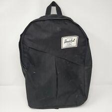 Herschel Black Nylon Medium Laptop School Backpack
