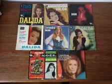 8x  disques anciens 45 tours RPM DALIDA années 60 et 70 (Lot 4/5)