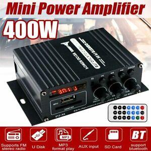 400W HiFi bluetooth Digital Power Amplifier Mini Stereo Audio Amp Car Home 12V