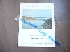 COMPAGNIE FIVES LILLE PONT DE TERENEZ SUR L'AULNE 1953 FINISTERE BRETAGNE