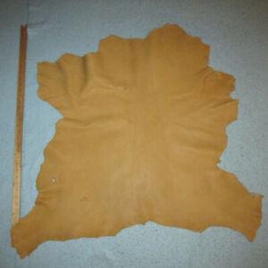 Heavy 3.5 oz Buckskin Tan Goatskin Leather Hide Moccasins