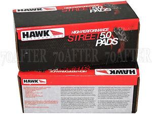 Hawk Street 5.0 Brake Pads (Front & Rear Set) for 97-01 Honda Prelude Base/SH
