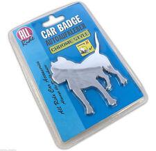 3D Staffy Pitbull Dog Chrome Style Peel & Stick On Car Van Lorry Badge Accessory