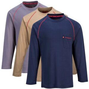 Bizflame FR  Flame Resistant Portwest Crew Neck Shirt NWT