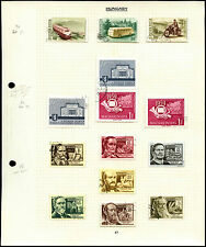 Hungary Album Page Of Stamps #V4505