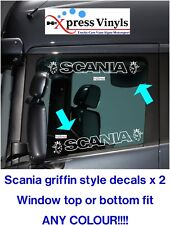 Scania window decals x 2 griffin style truck graphics stickers