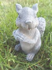 """Latex  only standing squirrel w nut statue mold plaster concrete mould 5.75""""H"""