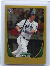 2011 BOWMAN CHROME #212 DUSTIN ACKLEY GOLD REFRACTOR RC #21/50, SEATTLE MARINERS