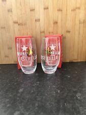 More details for 2 estrella damm barcelona home bar pub decor half pint beer glasses in box
