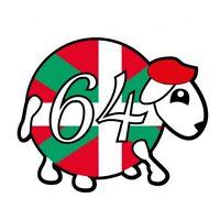 mouton 64 basque logo2 autocollant voiture stickers 12 cm
