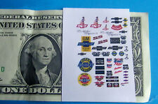 HO 1:87 Slot Car OR Diecast CLEAR Backed Waterslide DECALS,BUILDINGS,CAR CHEVY !