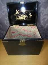 ART DECO JAPANESE BOX BEAUTIFUL HAND PAINTED