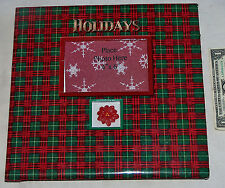 """Colorful Memories 12"""" x 12"""" Holiday Christmas Scrapbook Photo Album Picture Book"""