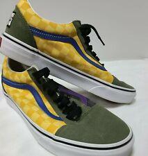 New listing Vans Green Yellow Purple Men's size 8 Women's size 9.5 Shoes Suede EUC SK8