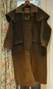 Vintage Gents Driza-Bone Brown wax full length Riding Coat  Australia size L