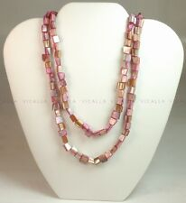 NATURAL MOTHER OF PEARL DESIGNER NECKLACE - 36 INCHES
