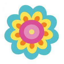 Autocollant fleur hippie sticker adhesif Taille:17 cm