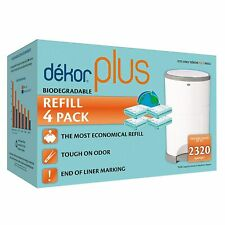 Dekor Plus Diaper Pail Biodegradable Refills | 4 Count | Most Economical Refill