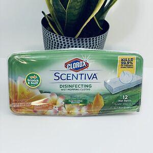 Scentiva Wet Mopping Cloths Fresh Brazilian Blossom Bleach Free Refills