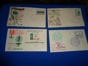 KOREA FDC COLLECTION, ALL W/CACHET