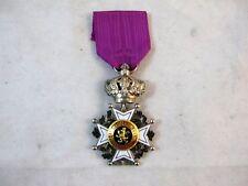 BELGIUM ORDER OF LEOPOLD MEDAL AWARDED IN 1951