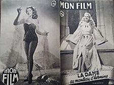 """MON FILM 1950 N 184  """" LA DAME AU MANTEAU D' HERMINE """" avec BETTY GRABLE"""
