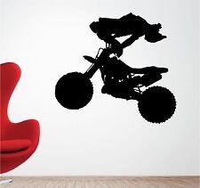 Cascade MOTARD Art mural autocollant vinyle chambre d'enfant Moto de motocross