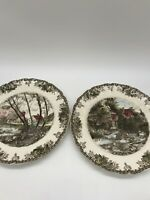 Johnson Brothers The Friendly Village 10 1/2 Inch Dinner Plates- 2 In Set