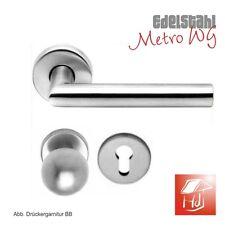 Türdrücker Edelstahl Knopf Garnitur Metro L-Form WG