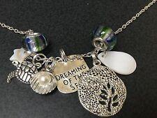 "Beach Surf Dream of Sea Turtle Sparkle Charm Tibetan Silver 18"" Necklace Mix C"
