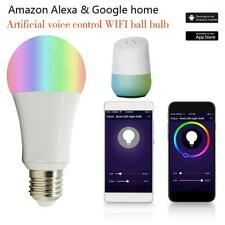 E27/B22 9W Smart LED WiFi Light Bulb Night Lamp Timer APP Control Light Bulbs