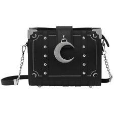 Killstar Gothic Goth Okkult Schultertasche Handtasche - Myth Buch Mond Nieten