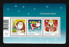 Canada Stamps — Souvenir sheet of 3 — 2014, Christmas : Santa #2796 — MNH