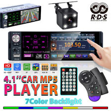 """4.1"""" Single 1DIN Car Stereo Radio Touch MP5 with BT RDS FM AUX USB TF Function"""