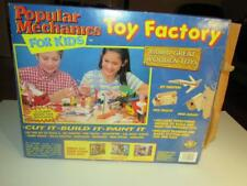 VINTAGE TOY - POPULAR MECHANICS FOR KIDS - WOODEN TOY FACTORY KIT- BOXED- W6