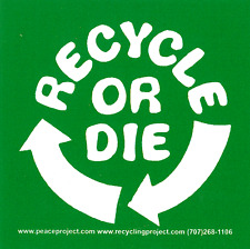 Recycle Or Die - Magnetic Bumper Sticker / Decal Magnet