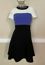 Kate Spade New York Colorblock Crepe Flip Dress Fit/Flare Sz 0 NWT$348 OUMU0727