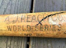 """Vintage A. J. Reach World Series Bat No 105 34 ½"""" Excellent Condition"""