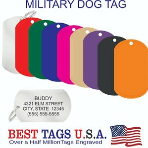 Custom Engraved Pet ID Tags Dogs Cats Brass Made in USA Tags from $3.68 Shipped!