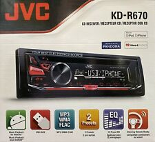 NEW JVC KD-R670 AM/FM/CD Single DIN Car Stereo Receiver, USB & Pandora Control